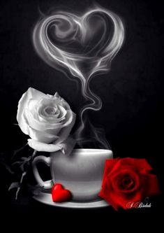 - Morgen - Guten morgen bilder - Chemistry Informations Heart Wallpaper, Flower Wallpaper, Wallpaper Backgrounds, Wallpapers, Beautiful Rose Flowers, Beautiful Gif, Beautiful Pictures, Coffee Love, Coffee Art