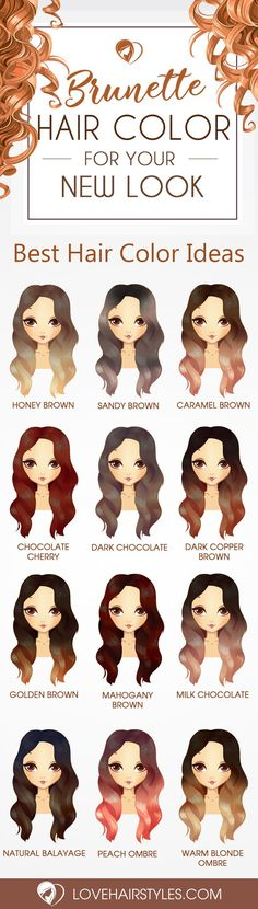 Hair Color 2017/ 2018 24 Beautiful Color Choices for Stunning Brunette Hair Beautiful Color Choice