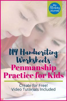 Create DIY handwriting worksheets for free! Watch the video tutorials included to help you make your own penmanship practice sheets for your kids. #diyhandwritingworksheets #penmanshippractice #handwritingworksheetsfree