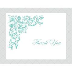 Antique Flourish Thank You Cards