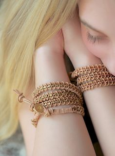 leather wrap bracelet tutorial #knots #macrame