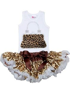 ADORABLE!!!!!!!!!!!!!!!! Cheetah purse tutu set