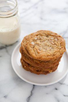 Salted Brown Sugar Toffee Cookies