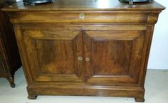 Antique French Louis Philippe Rosewood  Commode 2 Door Chest H40'' D22'' W52'' #LouisPhilippe