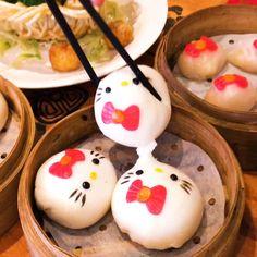 Eat Hello kitty Dumplings At This Restaurant In Hong Kong Dim Sum, Dumplings, Hong Kong, Bento Recipes, Bento Box Lunch, Cake Videos, Aesthetic Food, Cute Food, Food Presentation