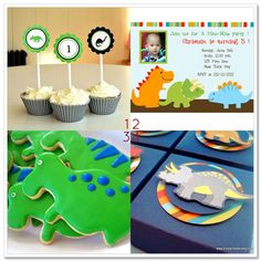 cute cookies for a dinosaur party