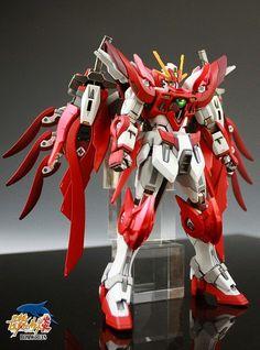 GUNDAM GUY: HGBF 1/144 Wing Gundam Zero Honoo - Custom Build