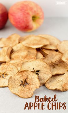 These easy to make, Baked Apple Chips are crunchy with just a touch of sweetness. Perfect as an after school snack or that late night snack attack!