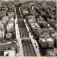 שדרות רוטשילד, מתוך סדרת תצלומי אוויר של זולטן קלוגר, 1938-1937