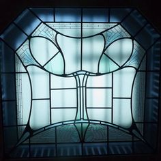 Architectural window by Henry Van de Velde