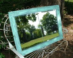 Shabby Chic Mirror Large Mirror Shown in by bellasattictreasures