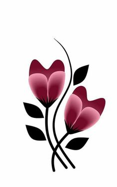 Happy Sunday Hand Embroidery Flowers, Embroidery Patterns, Flower Patterns, Flower Designs, Rock Flowers, Fabric Painting, Painting Flowers, Tulip Painting, Arte Floral
