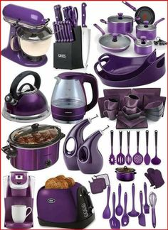 Purple Kitchen Decor, Purple Kitchen Accessories, Cool Kitchen Gadgets, Cool Kitchens, Kitchen Stuff, Tim Burton Stil, Purple Furniture, Purple Rooms, Gothic Home Decor