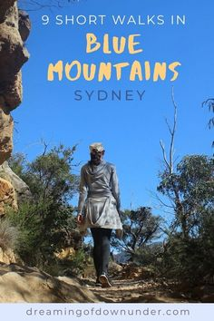 Choose from nine short Blue Mountains Australia hikes and see stunning scenery just two hours from Sydney NSW. #mountains #australia #hiking #traveldestinations