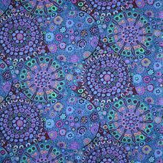 1 x Fat Qtr Vera On Blue 100/% Cotton Timeless Treasure Fabric Sewing//Quilting