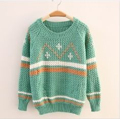 Winter Woolen Round Neck Tribal Pattern Sweater 3 Colors
