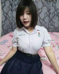 Cute Asian Girls, Beautiful Asian Girls, Beautiful Women, School Girl Fancy Dress, Fashion Figures, Hair Pictures, Cute Babies, Girl Outfits, Lady