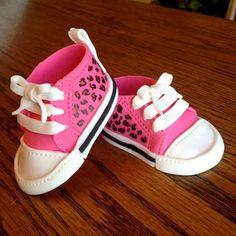 gumpaste shoes | Fondant gumpaste baby shoes baby shower cake by LoveAmyCakes, $29.00