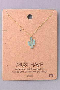 Dainty Cactus Necklace