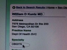 The 15 Funniest Names of Actual Gynecologists | iDidAFunny