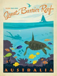 vintage travel posters australia - Recherche Google