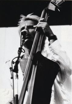 Sting (The Police) with his Heck Van Zelinge Z Bass! 1981?