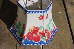 50s Fruit Lamp Shade  Lampshade Cottage Style  5 by lampshadelady