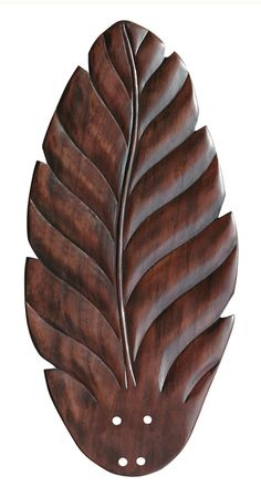 A gently curving leaf shape lends island-inspired charm to the Emerson Maui Bay 24 in. Indoor Blades - Set of 5 . These hand-carved wooden fan blades.