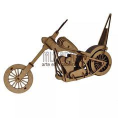 Easy Rider. Quebra Cabeça 3d. Miniatura Em Mdf - R$ 45,00