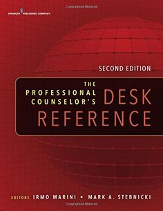 The Professional Counselor's Desk Reference, Second Edition by Dr. Irmo Marini PhD  DSc  CRC  CLCP http://www.amazon.com/dp/0826171818/ref=cm_sw_r_pi_dp_A72Swb18FWN79
