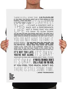 There Is Still Some Time Print - Available in the TWLOHA Online Store #TWLOHA