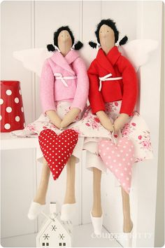tilda red and pink by countrykitty, via Flickr