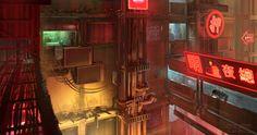 Cyberpunk. Otaku Place, Street View by dsorokin755 on DeviantArt