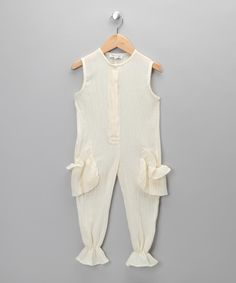 Made in the UK Boutique  Jake & Maya Candy Beige Jumpsuit - Girls