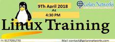 Get for Best Linux Training in Hyderabad at Golars Networks. New Batch Start From 9Th April Linux Training Classes by Realtime Faculty with course material and 24x7 Lab Facility. For More Details Call Us @ 9177091770