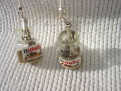 nutella glass  jars miniature earrings by andreachalari on Etsy, $10.00