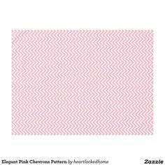 Elegant Pink Chevrons Pattern Tablecloth