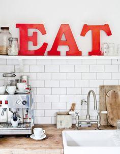 butcher block, subway tile kitchen, kitchen shelves, subway tiles kitchen, eat