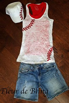 Baseball tank top. Baseball mom tank top. Softball by FleurdeBling