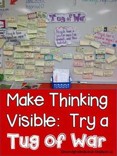 This is a great strategy for increasing engagement in your students and for using higher order thinking skills! Whether you teach Kindergarten or grade twelve I believe all students will find success with this activity! Give it a try especially if you teach in a special education classroom and struggle making social studies content real for your students. Read more at: http://www.createdreamexplore.com/2014/05/how-about-tug-of-war-making-thinking.html