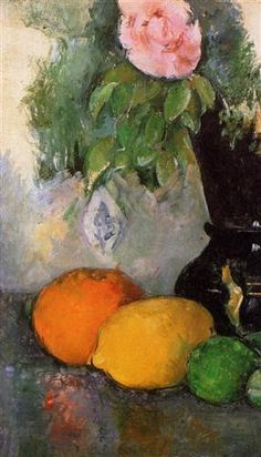 Flowers and Fruit - Paul Cezanne