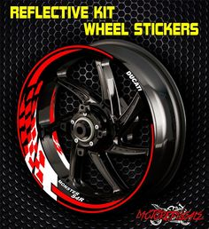 DUCATI MONSTER S4R RIM stripe DECALS WHEEL STICKERS REFLECTIVE wrap tape 17