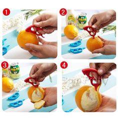 $3.48 1Pc Cute Mouse Shaped Orange Lemon Fruit Citrus Peeler Scaler Remover (Random Color) - BornPrettyStore.com