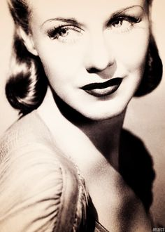 Ginger Rogers...Fred Astaire sings to her in the film 'Shall We Dance' ~ the inspiration for this board :)