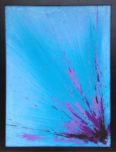 A bright colored piece sure to bring life to any room it's in. This painting offers an exquisite mix of texture and blue hues that seamlessly splash across the canvas. Main Colors: Blue. Artist: Steph