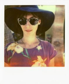 The always-chic Melodie Musset grabs some sun poolside at Noise Pop Oasis during Coachella 2012