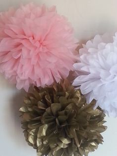 Check out this item in my Etsy shop https://www.etsy.com/listing/246927261/tissue-paper-pom-poms-set-of-6-girl-baby