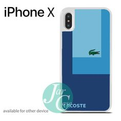 Lacoste Blue Style Phone case for iPhone X