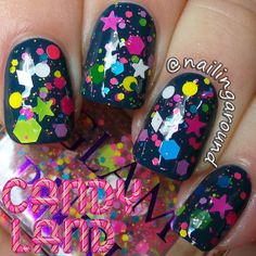 Candyland Full Size Handmixed Glitter Indie Nail Polish Glam Polish Fun & Games Collection #3
