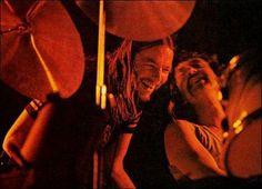 David Gilmour and Nick Mason